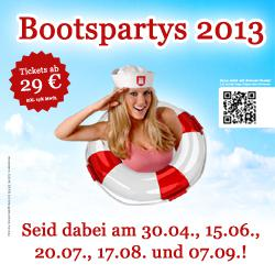 Partyboot in Hamburg: Termine 2013