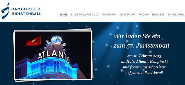 57. Hamburger Juristenball im Hotel Atlantic Kempinski