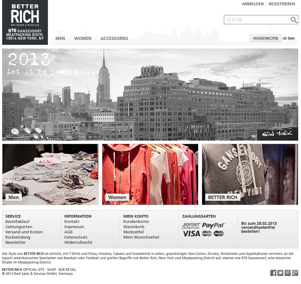 Sportswear Better Rich Launcht Online Shop