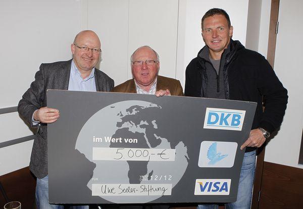 Volker Wulff, Uwe Seeler und Frank Rost