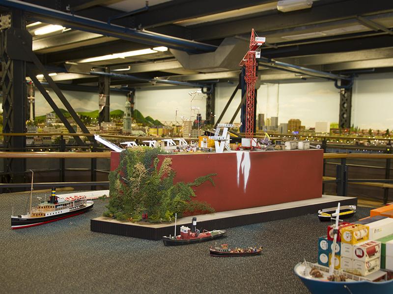 Baustelle der Elbphilharmonie im Miniatur Wunderland