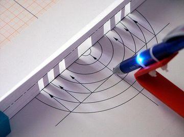 Konstruktion eines Fresnel-Spiegels für Ultraschallwellen mit dem 3B Ultraschall-Pen