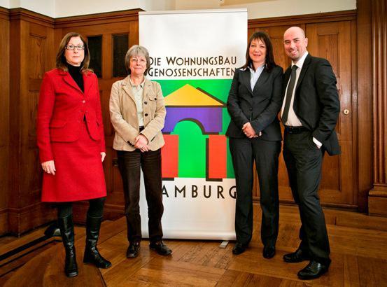 Petra Böhme, Senatorin Jutta Blankau, Kristina Weigel, Frank Seeger