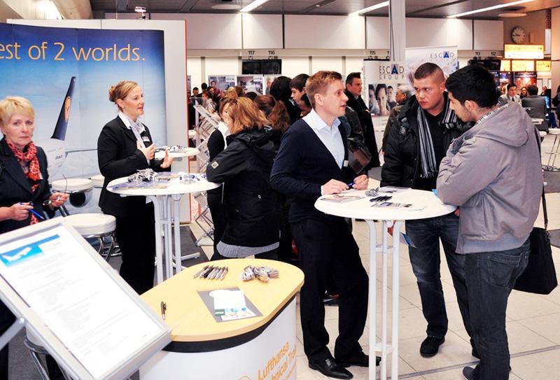 Jobmesse im Flughafen Hamburg