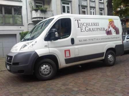Fahrzeug der Tischlerei Graupner