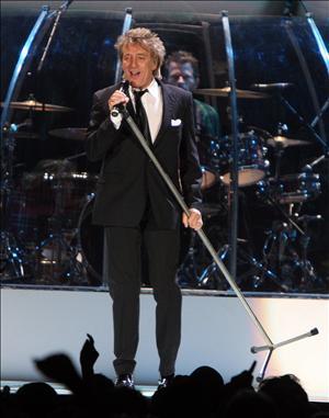 Rod Stewart bei einem Konzert in Spanien