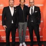 Christian Krug (GALA-Chefredakteur), Stephan Luca und Alexander Franke (Geschäftsführer Alsterhaus)