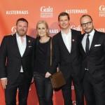 Christian Krug (GALA-Chefredakteur), Petra Fladenhofer (KaDeWe), Nils Oberschelp (Geschäftsführer GALA), Alexander Franke (Geschäftsführer Alsterhaus)