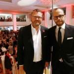 Christian Krug (GALA-Chefredakteur) und Alexander Franke (Geschäftsführer Alsterhaus) bei der Eröffnungsrede
