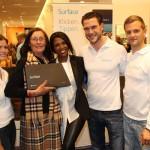 Siegerehrung Microsoft mit Motsi Mabuse und Gewinnerin Christa Moeller
