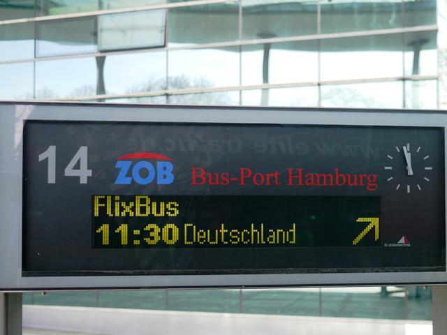 FlixBus Fernbusse starten täglich am Bus-Port Hamburg
