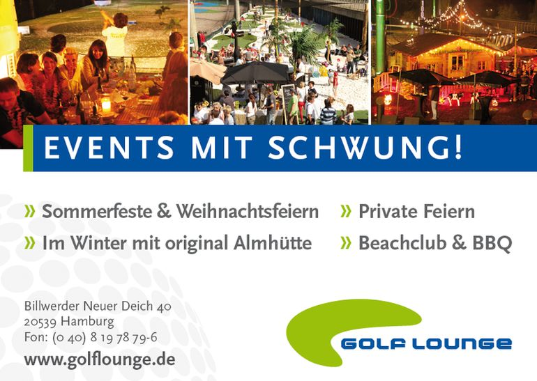Golf Lounge Hamburg: Events mit Schwung