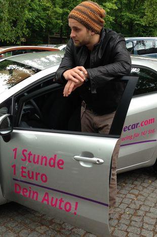 Silvio Heinevetter mit seinem CiteeCar