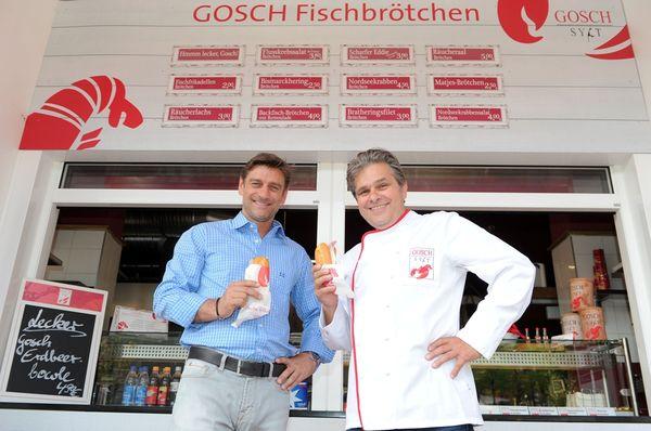 Oliver Kreuzer und Josef Dobler, Betriebsleiter Gosch im Keese