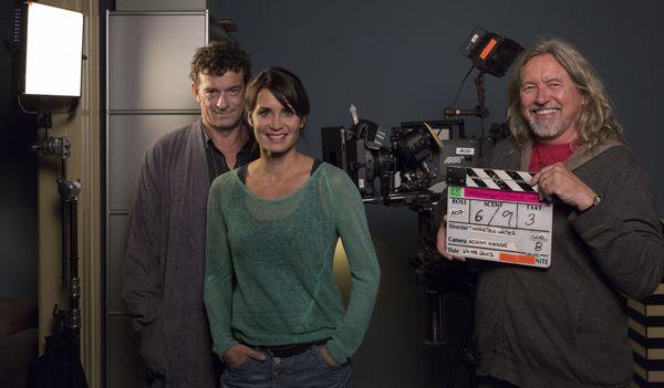 Thomas Sarbacher und Anja Kling mit Regisseur Thorsten Näter
