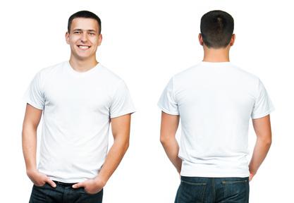 Weißes T-Shirt, das Basic schlechthin