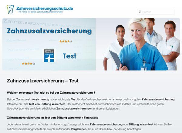 Zahnzusatzversicherung Testsieger auf Zahnversicherungsschutz.de