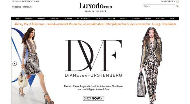 Online Luxus Shopping mit Luxodo