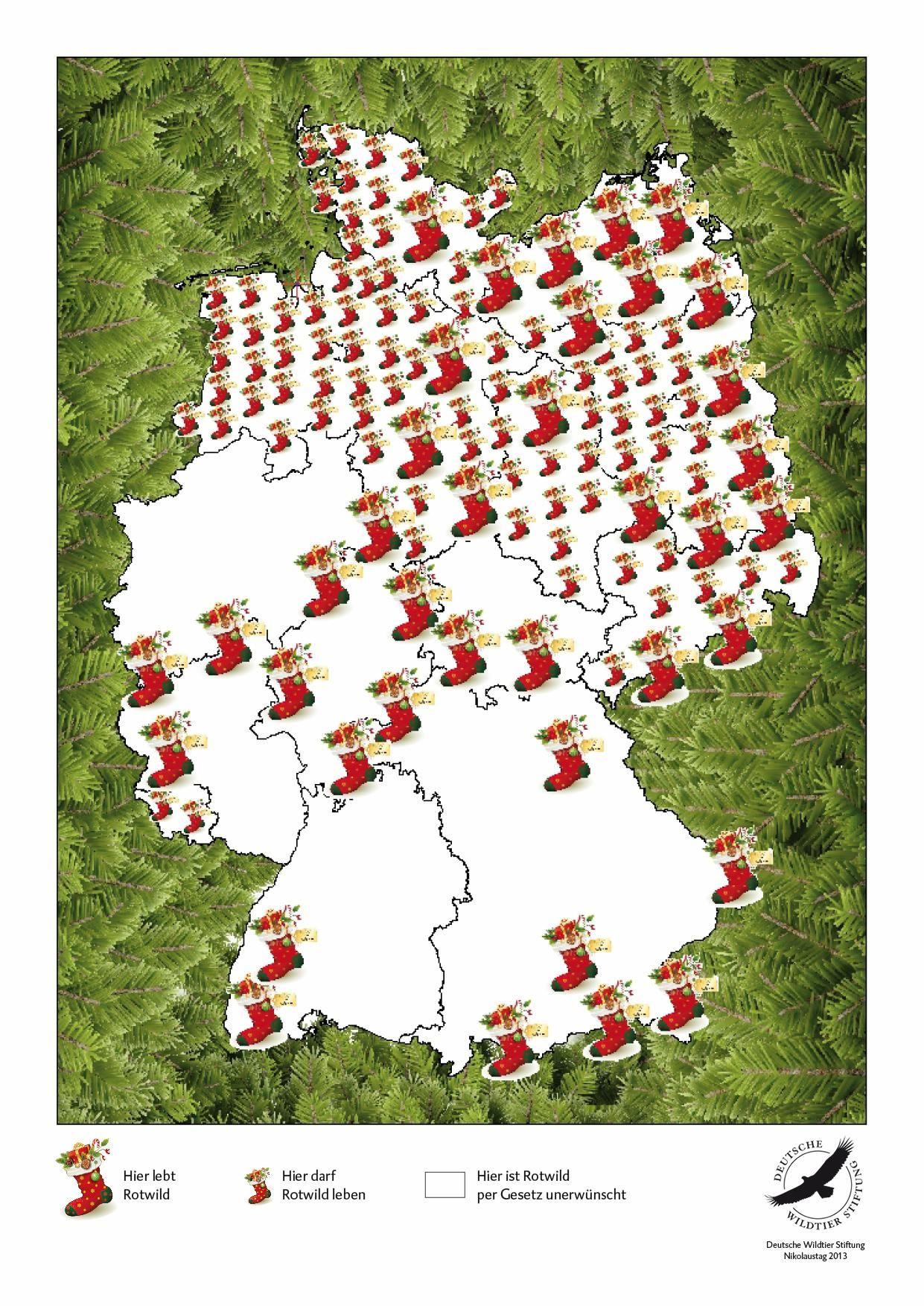 Im Süden gibt es keine Geschenke, wenn der Weihnachtsmann per Rotwild unterwegs wäre
