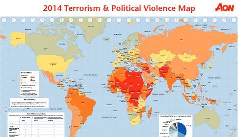 Weltkarte der Terrorgefahr