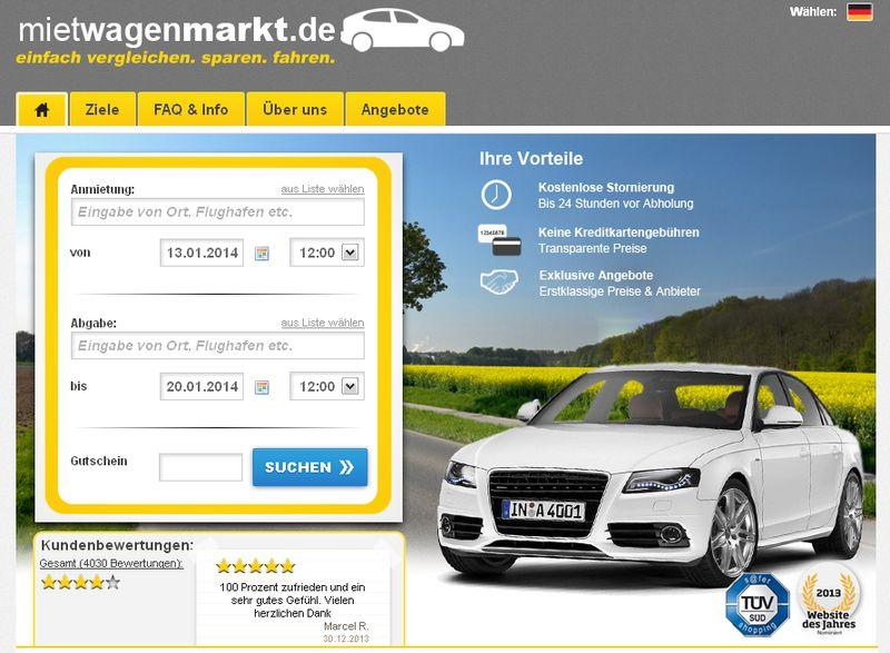 Gratis Benzinrechner bei Mietwagenmarkt.de