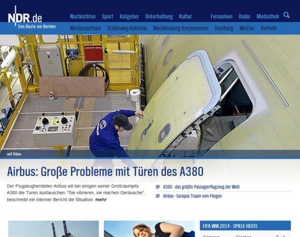 Airbus 380 mit Problemen