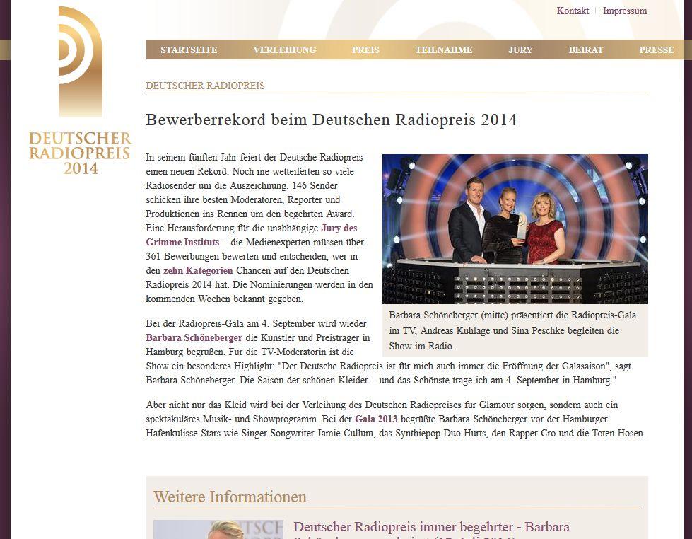 Bewerberrekord beim Deutscher Radiopreis 2014