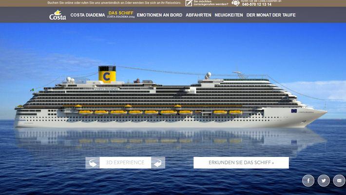Costa Diadema - Kreuzfahrten sind voll im Trend