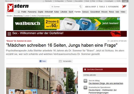 Das Hamburger Magazin Stern kämpft gegen das Sommerloch