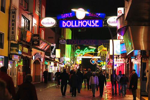 Das Dollhouse auf der grossen Großen Freiheit in Hamburg