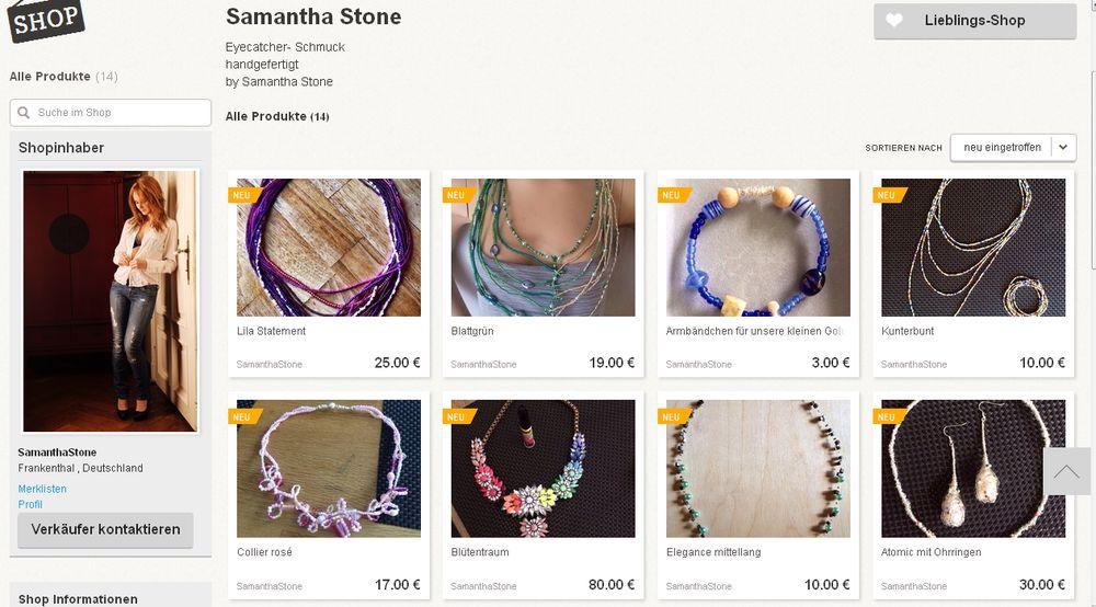 Schmuck-Shop von Samantha Stone