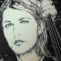Carola Paschold- David Garrett -2014 - oil on canvas - H 100 cm x B 100cm