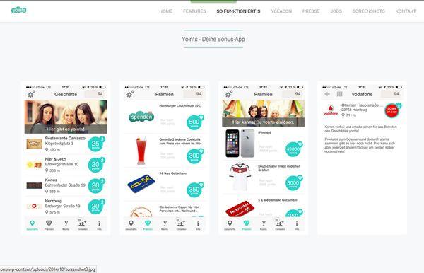 Yoints - die neue Hamburger Bonus App