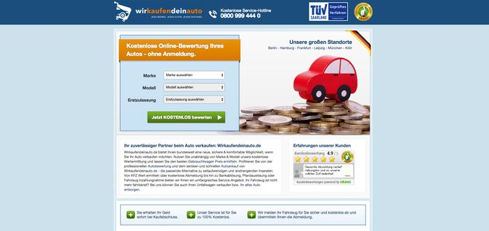 Gebrauchtwagen-Marktplatz: Wir kaufen dein Auto