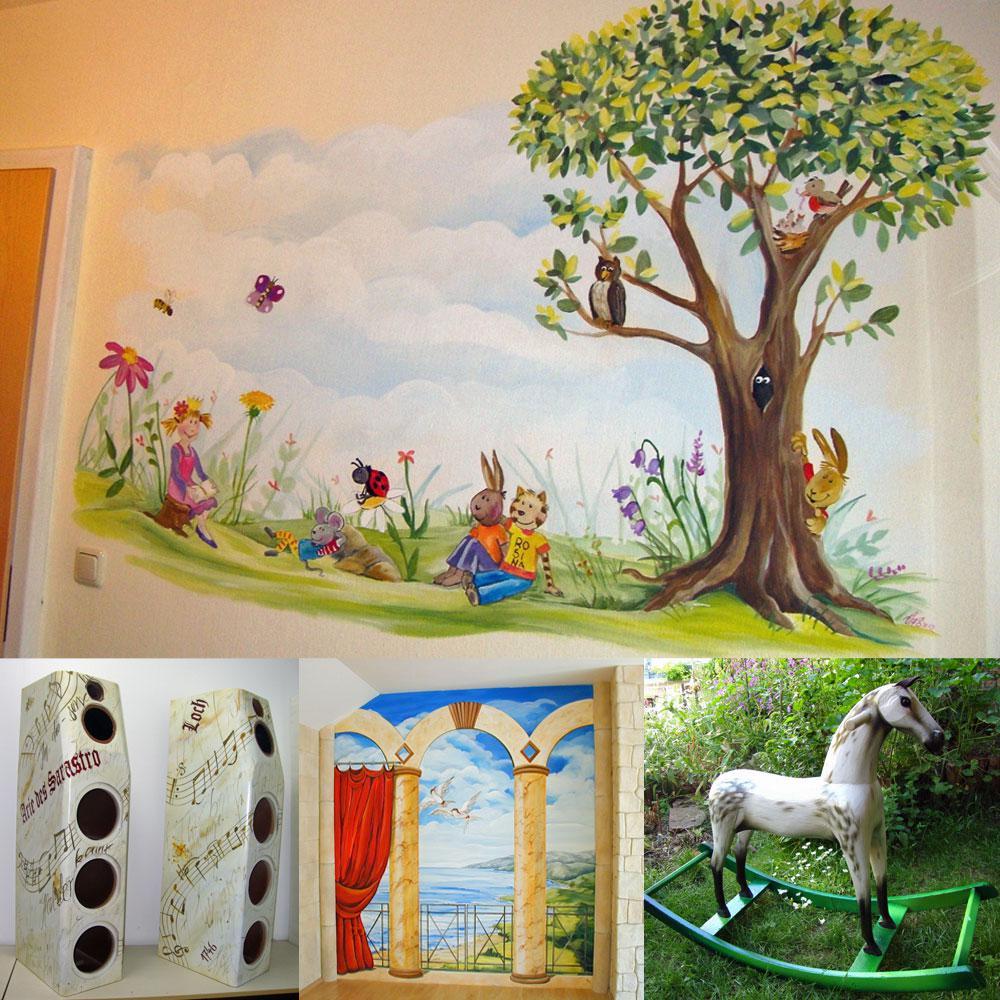 Airbrush-Dekoration: Vom Schaukelpferd bis zur Kinderzimmerwand