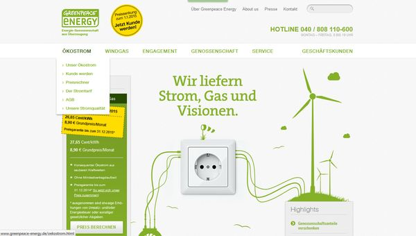 Grüner Strom liegt voll im Trend