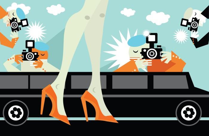 Celebrity und Paparazzi - gehören zusammen Deckel und Topf