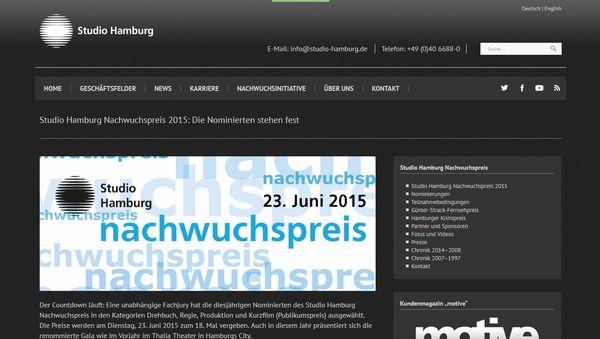 Alljährliche Preisverleihung von Studio Hamburg