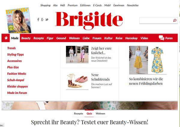 Deutschlands Frauen lesen Brigitte