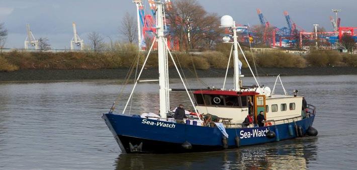 Die MS Sea-Watch ist auf dem Weg ins Mittelmeer
