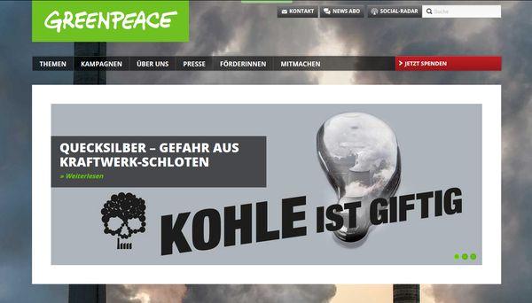 Greenpeace macht Druck