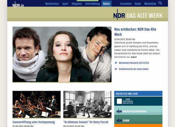 Der NDR berichtet über klassische Musik