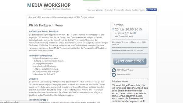 Karrierekick: Seminare, Workshops und Weiterbildung