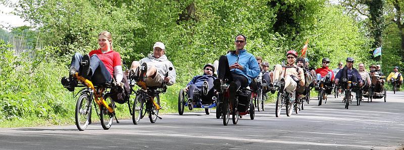 Begeisterung beim Spezialfahrrad-Event der Firma Toxy Liegerad
