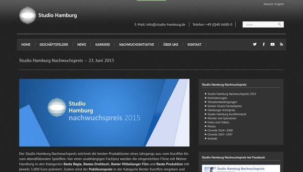 tudio Hamburg Nachwuchspreis