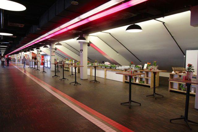 VIP-Catering-Bereich beim FC St. Pauli