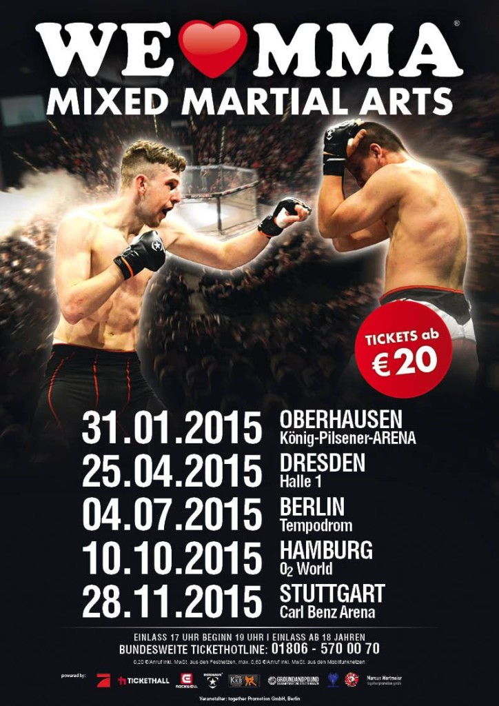 We love MMA Plakat 2015