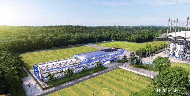 Visualisierung HSV-Campus am Volksparkstadion