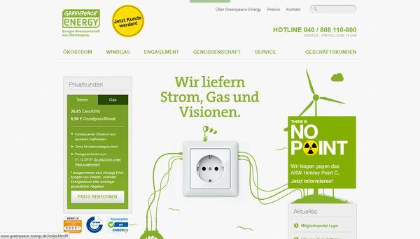 Weiß nicht jeder: Greenpeace liefert auch Strom & Energie