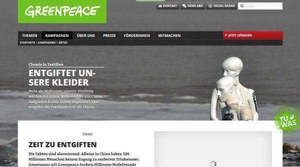 Der Einsatz von Greenpeace für unser aller Wohl kann gar nicht genug gewürdigt werden!